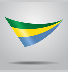 Gabon flag background vector