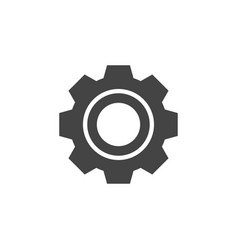 gear icon graphic design template vector image