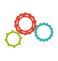 Gears team work collaboration symbol vector