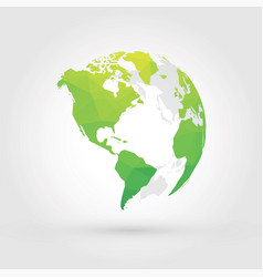 green globe earth planet america vector image