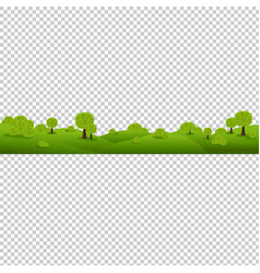 Green nature landscape isolated transparent vector