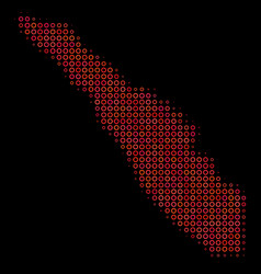 Halftone red sumatra island map vector