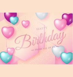 happy birthday celebration typography design vector image