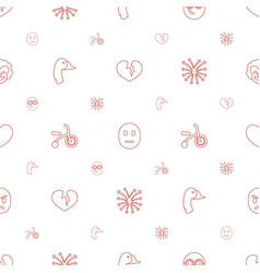 Happy icons pattern seamless white background vector
