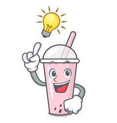 Have an idea raspberry bubble tea character vector