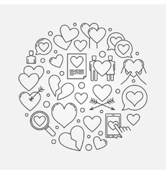 Heart round vector image