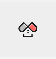 Home capsule logo template design vector