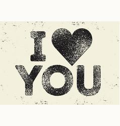 i love you valentine greeting card design vector image