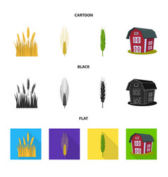 Isolated object of agriculture and farming logo vector