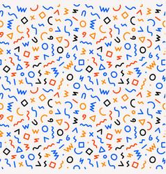 kids pattern memphis style seamless pattern vector image