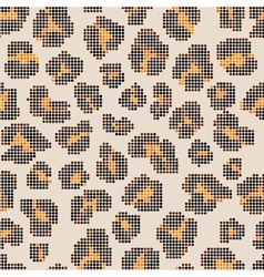 Leopard halftone seamless pattern vector