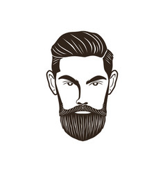 man head beard vector image