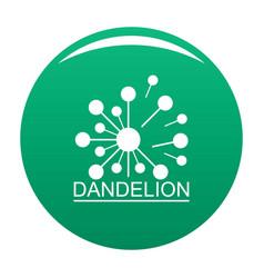 Meadow dandelion logo icon green vector