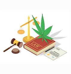 medical marijuana legalization concept vector image