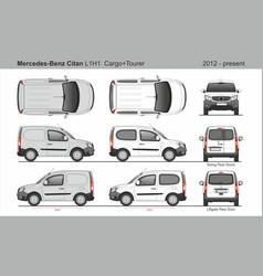 Mercedes citan cargo and tourer l1h1 2012-present vector