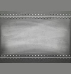 Metal polished plate with scratches background vector