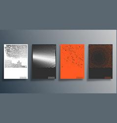 Minimal halftone design for flyer poster vector