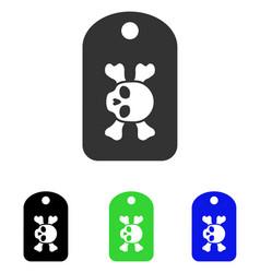 morgue mark flat icon vector image