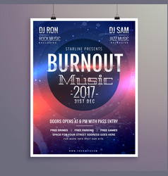 Music flyer brochure poster template for your vector