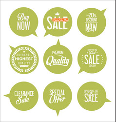 Paper sale stickers collection 5 vector