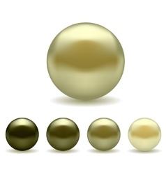 Pearl set vector