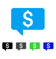 Price message flat icon vector