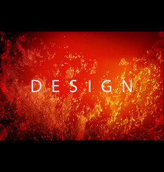 red with yellow color textured dark fiery vector image