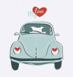 retro bug vector image
