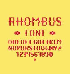 Rhombus regular font alphabet vector