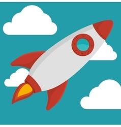rocket spaceship flying vector image