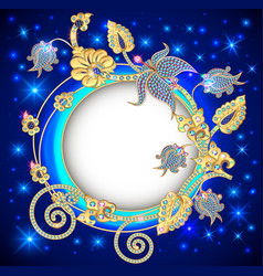 round jewelry background banner decorated with vector image