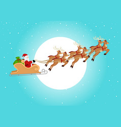 santa claus riding his sleigh vector image
