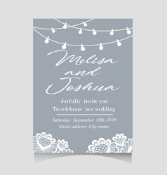 Save the date invitation card with holiday vector