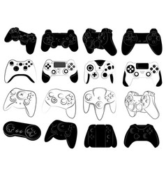 set joysticks for console collection of vector image