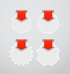 shopping labels templates with red arrows vector image