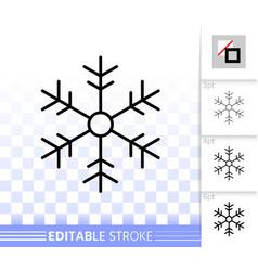 snowflake simple black line icon vector image