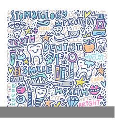 Stomatology medicine concept vector