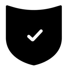 the black color shield icon vector image