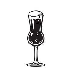 thistle beer glass hand drawn vector image