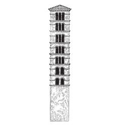 Tower of santa maria in cosmedin is a basilica vector