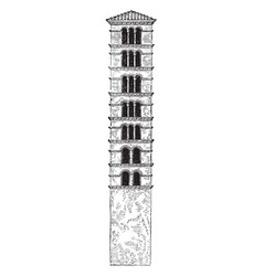 tower santa maria in cosmedin is a basilica vector image