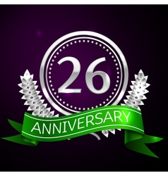 Twenty six years anniversary celebration with vector image vector image