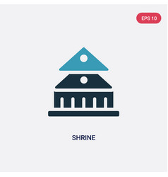 Two color shrine icon from religion concept vector