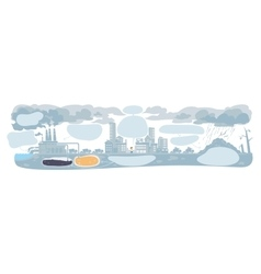 Urban ecology infographic with smoke clouds vector