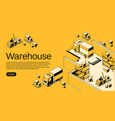 warehouse logistics halftone vector image