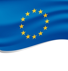 Waving flag of european isolated on white vector