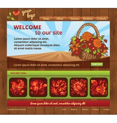 Wood eco template site vector