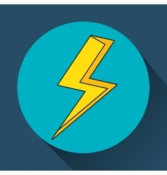 yellow bolt icon vector image