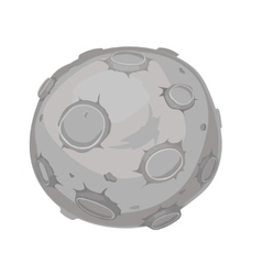 cartoon of a moon vector image