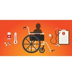 cerebral palsy concept baby kid sit in wheelchair vector image